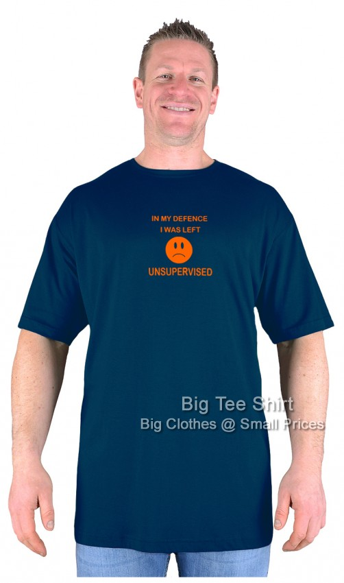 Navy Blue BTS Unsupervised T-Shirt Sizes 2xl to 8xl
