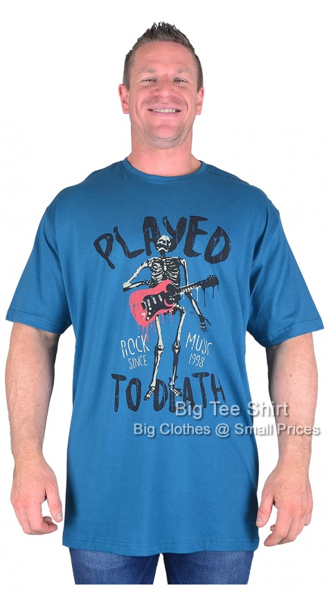 Teal Espionage Played to Death T-Shirt Sizes 2xl to 8xl