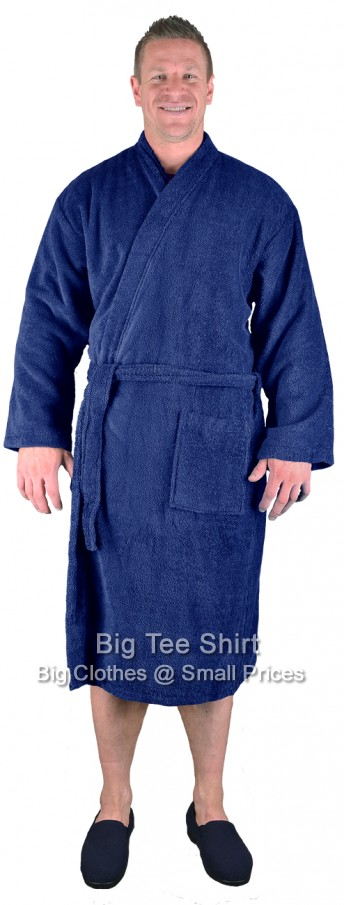 Navy Espionage Breathe Towelling Dressing Gown 2xl to 8xl
