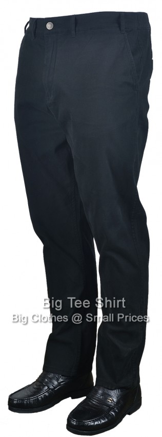 "Black Kam Ross 31 "" IL Chinos Sizes 42 to 60"