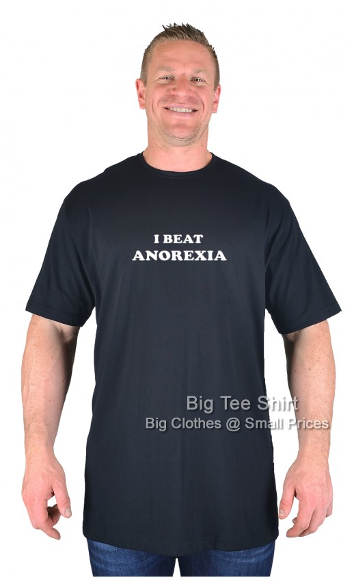 Black BTS I Beat Anorexia T-Shirt   - Damaged or Seconds