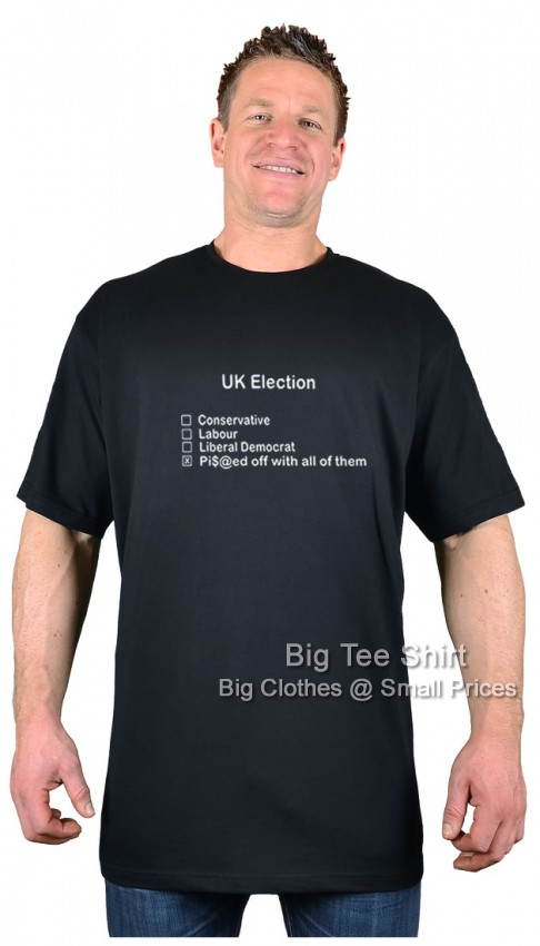 Black BTS Ballot Paper T-Shirt   - Damaged or Seconds