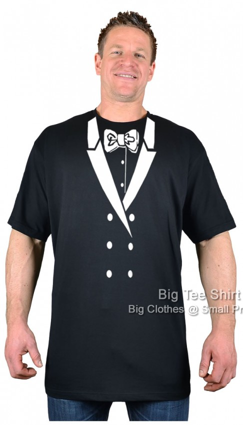 Black Bow Tie and Tuxedo T-Shirt  - Damaged or Seconds
