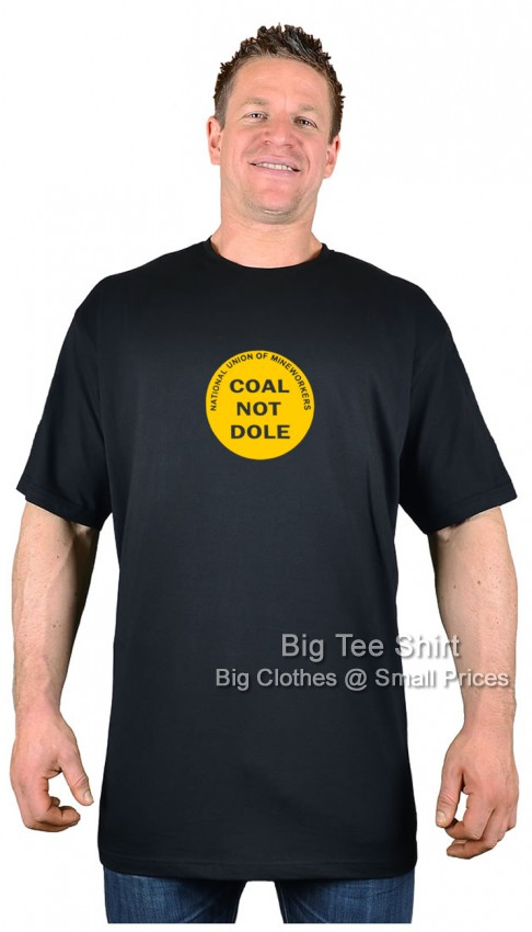 Black BTS Coal Not Dole Retro T-Shirt   - Damaged or Seconds