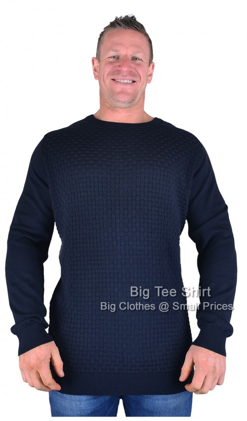 Navy Espionage Tandy Knitted Jumper Sizes 2xl to 6xl