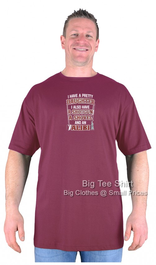 Wine Red BTS Alibi T-Shirt Sizes 2XL 3XL 4XL 5XL 6XL 7XL 8XL