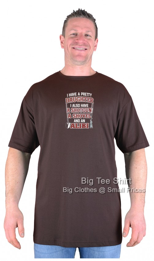 Chocolate Brown BTS Alibi T-Shirt Sizes 2XL 3XL 4XL 5XL 6XL 7XL 8XL