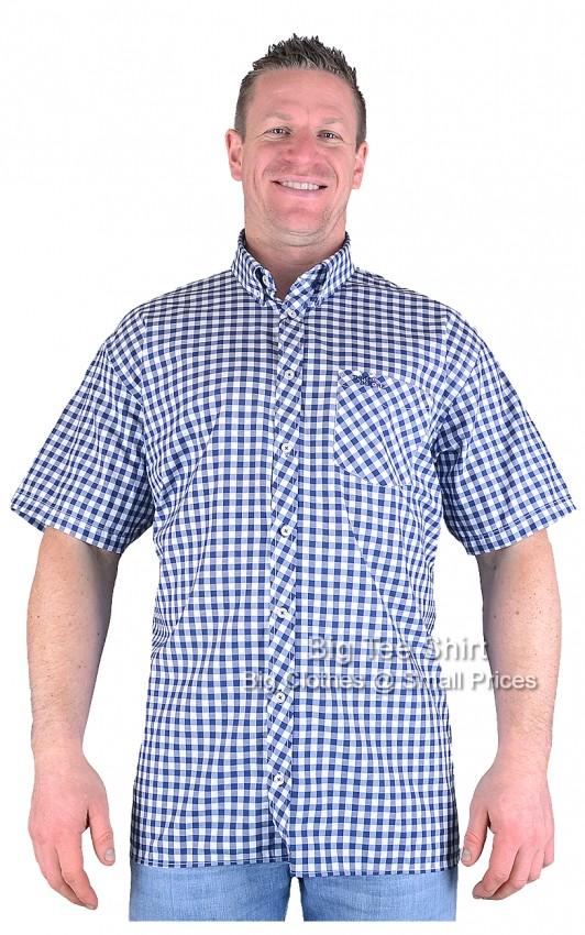 Blue Three Before Eight Petty Short Sleeve Shirt Sizes 2xl to 7xl