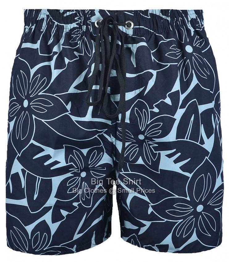 74918b04a7 Gourd Floral Swim Shorts | Navy | Brooklyn | 2XL to 6XL