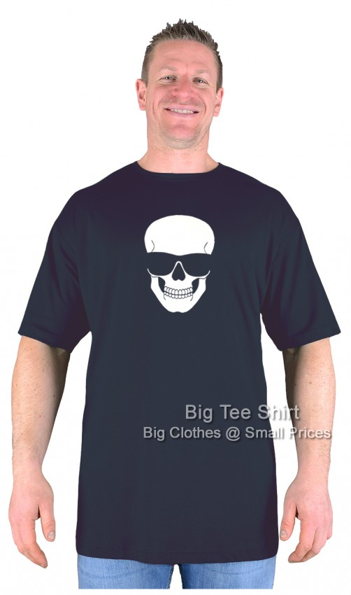Black BTS Chillin Skull EXTRA TALL T-Shirt Sizes 2XLT to 8XLT
