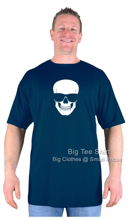Navy Blue BTS Chillin Skull EXTRA TALL T-Shirt Sizes 2XLT to 8XLT