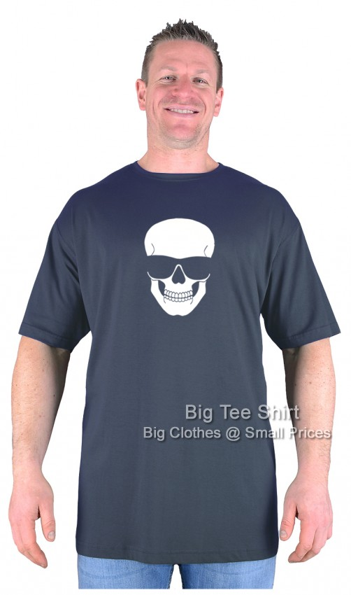 Charcoal Grey BTS Chillin Skull EXTRA TALL T-Shirt Sizes 2XLT to 8XLT