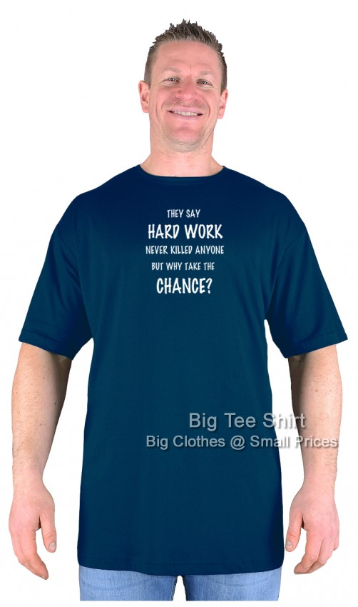 Navy Blue BTS Hard Work T-Shirt Sizes 2XL 3XL 4XL 5XL 6XL 7XL 8XL