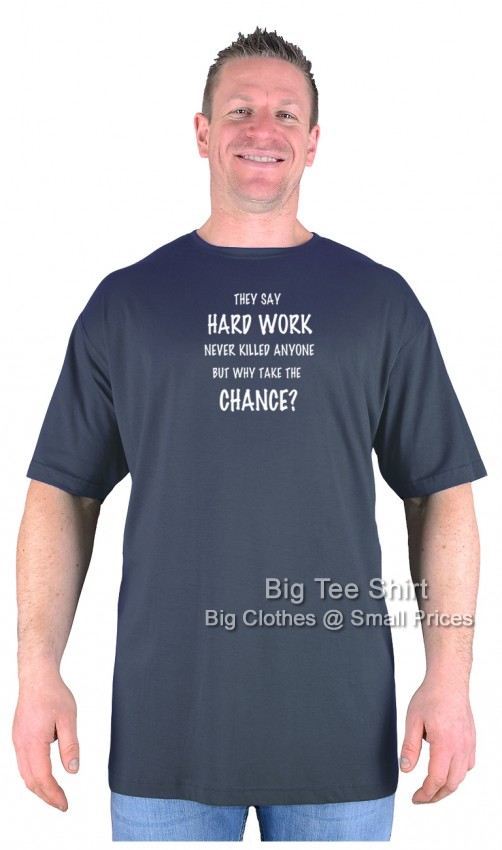 Charcoal Grey BTS Hard Work T-Shirt Size 2XL 3XL 4XL 5XL 6XL 7XL 8XL