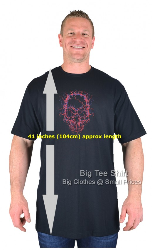 Black BTS Bright Skull EXTRA TALL T-Shirt Sizes 2XLT to 8XLT