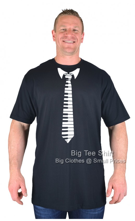 Black BTS Piano Tie T-Shirt - Damaged or Seconds