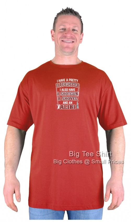 Terracotta Red BTS Alibi T-Shirt Sizes 2XL 3XL 4XL 5XL 6XL 7XL 8XL