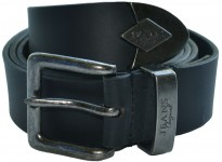 NOT BONDED Big Mens Black King Hull Jeans Belt Size 44 to 70 inches waist