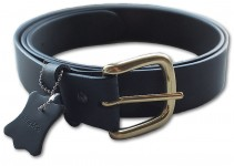 Black King Solid Brass Buckle Jeans Belt (NOT BONDED)