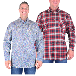 Patterned Long Sleeve Shirts