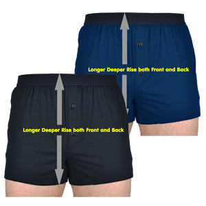 High Rise Boxer Shorts