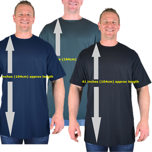 Extra Long Plain T-Shirts